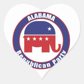 Alabama Republican Party Heart Sticker