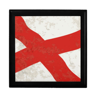 Alabama Sate Flag Grunge Gift Box