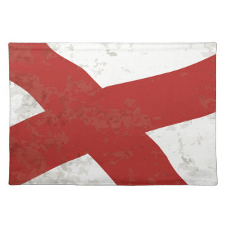 Alabama Sate Flag Grunge Placemat