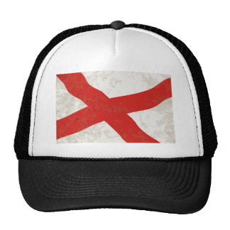Alabama Sate Flag Grunge Trucker Hat