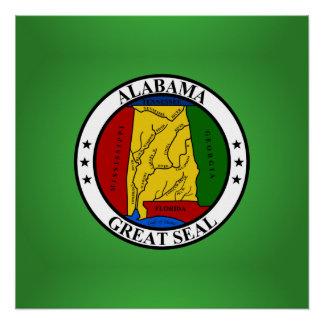 Alabama seal, American state seal Poster