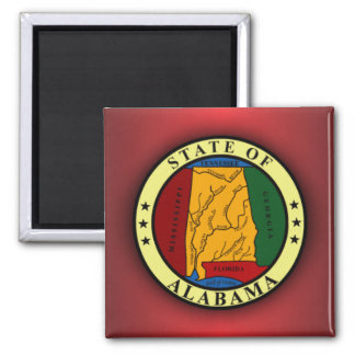 Alabama Seal Square Magnet
