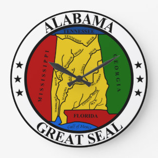Alabama seal united states america flag symbol rep large clock