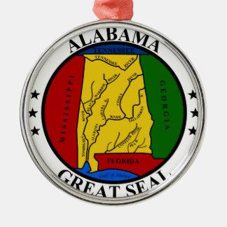 Alabama seal united states america flag symbol rep metal ornament