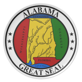 Alabama seal united states america flag symbol rep plate