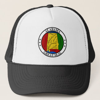 Alabama seal united states america flag symbol rep trucker hat
