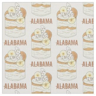 Alabama Southern Banana Pudding Dessert Foodie AL Fabric