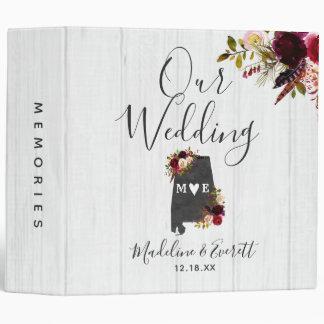 Alabama State Destination Wedding Photo Album Vinyl Binder