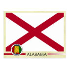 Alabama State Flag and Seal Postcard