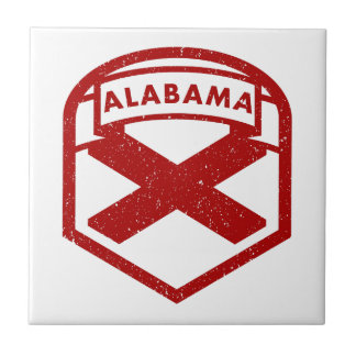 Alabama State Flag Ceramic Tiles