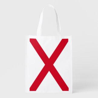 Alabama State Flag Design Grocery Bags