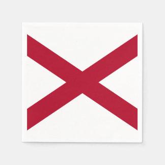 Alabama State Flag Paper Napkin