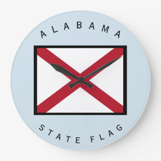 Alabama State Flag Wall Clock by Janz