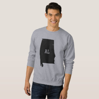 Alabama State Map AL Abbreviation Men's Sweatshirt