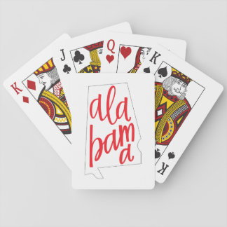 Alabama State Outline Playing Cards