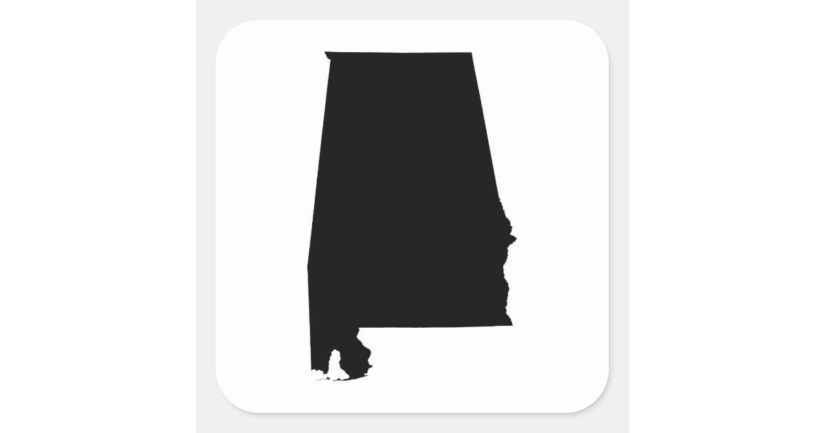 Alabama State Outline Square Sticker Zazzle Ca