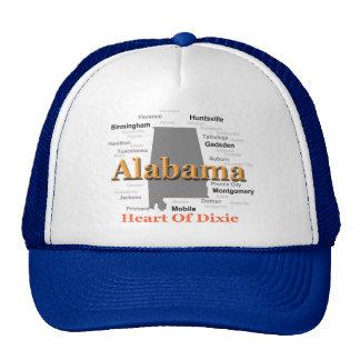 Alabama State Pride Map Silhouette Mesh Hat
