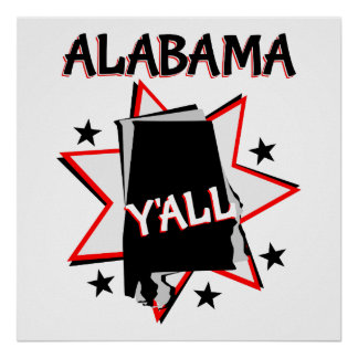 Alabama State Pride Y'all Poster