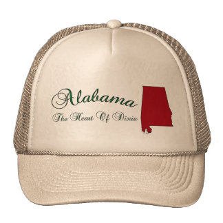 Alabama State Shape Map Baseball Hat