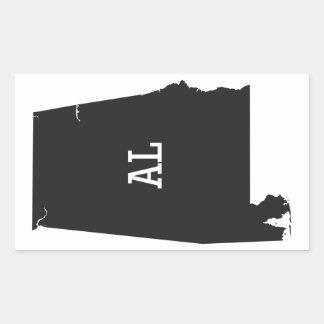 Alabama State Silhouette AL Abbreviation Stickers