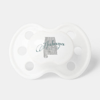 Alabama State Typography Pacifier