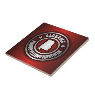 """Alabama Steel"" Decorative Tile (Red)"