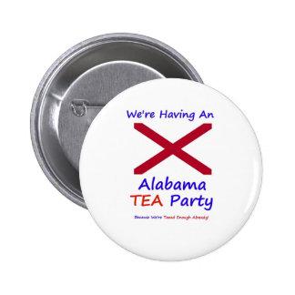Alabama TEA Party - We're Taxed Enough Already! Button