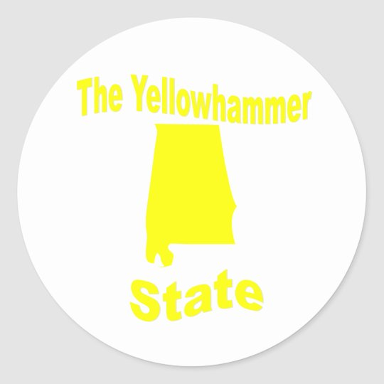Alabama: The Yellowhammer State Classic Round Sticker