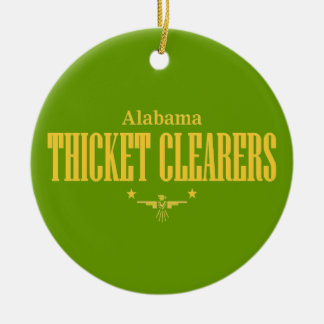 Alabama Thicket Clearers Round Ceramic Ornament