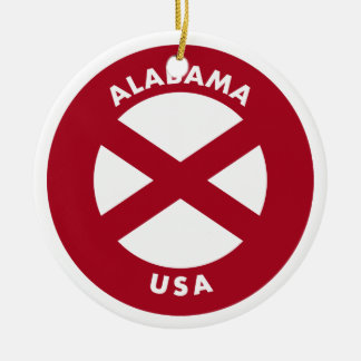 Alabama USA Ceramic Ornament