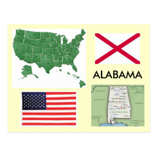 Alabama, USA Postcard