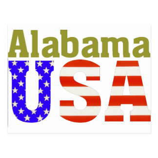 Alabama USA! Postcard