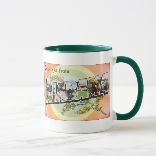 Alabama - Vintage Alabama Travel Mug