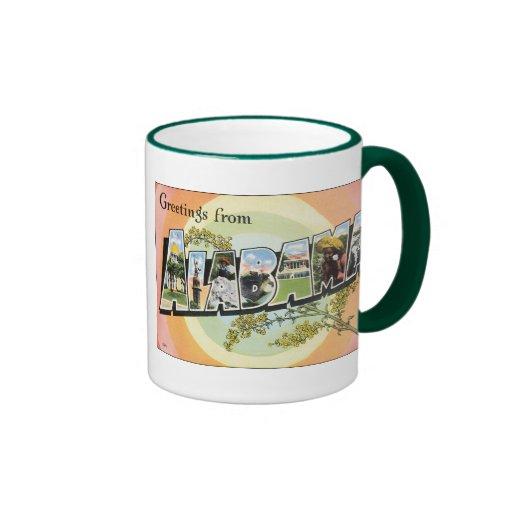 Alabama - Vintage Alabama Travel Ringer Mug