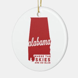 Alabama   Where the Skies Are So Blue   Crimson Do Ceramic Ornament