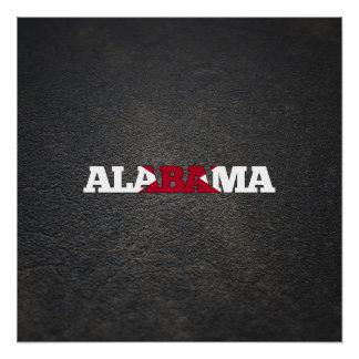 Alabaman name and flag perfect poster
