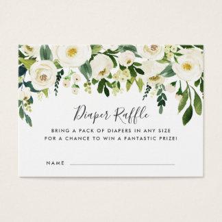 Alabaster Floral Baby Shower Diaper Raffle Cards