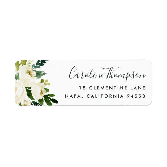 Alabaster Floral Return Address