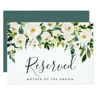Alabaster Floral Wedding Reserved Sign Card
