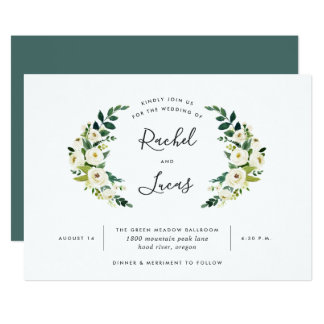 Alabaster Laurel Wedding Invitation