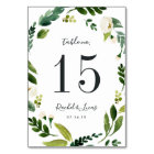 Alabaster | Personalized Table Number Card