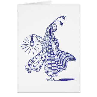 Aladdin and His Electric Lamp Card