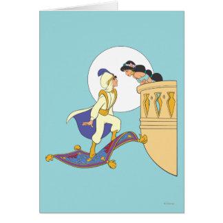 Aladdin and Jasmine Greeting Card