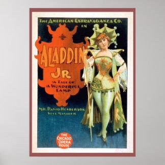 Aladdin Jr Vintage Theater Poster