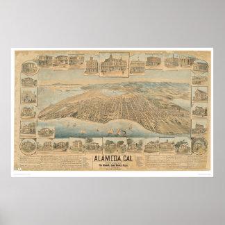 Alameda, CA. Panoramic Map (0540A) Poster