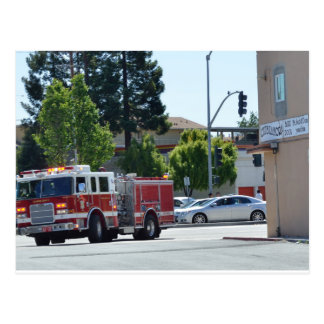 Alameda County Fire Rushing Postcard