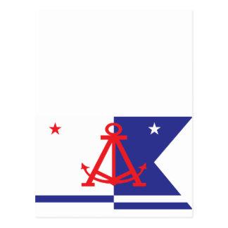 Alameda flag postcard