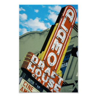 Alamo Draft House Austin Texas Poster
