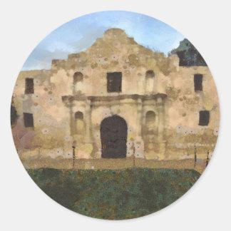 Alamo Lawn Classic Round Sticker