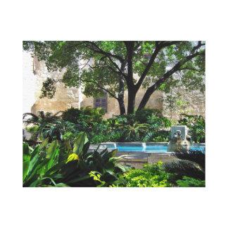 Alamo Mission Courtyard Canvas Print